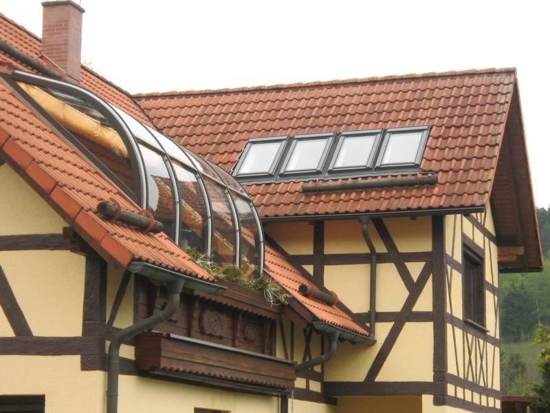 Wintergarten Auf Dem Dach wintergarten mit dach die schönsten einrichtungsideen